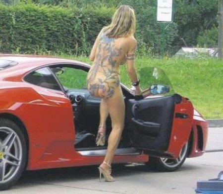 naked tattoo girl ferrari f430