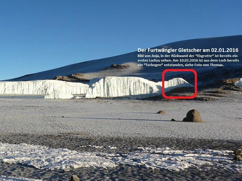 Der Furtwängler Gletscher am 02.01.2016